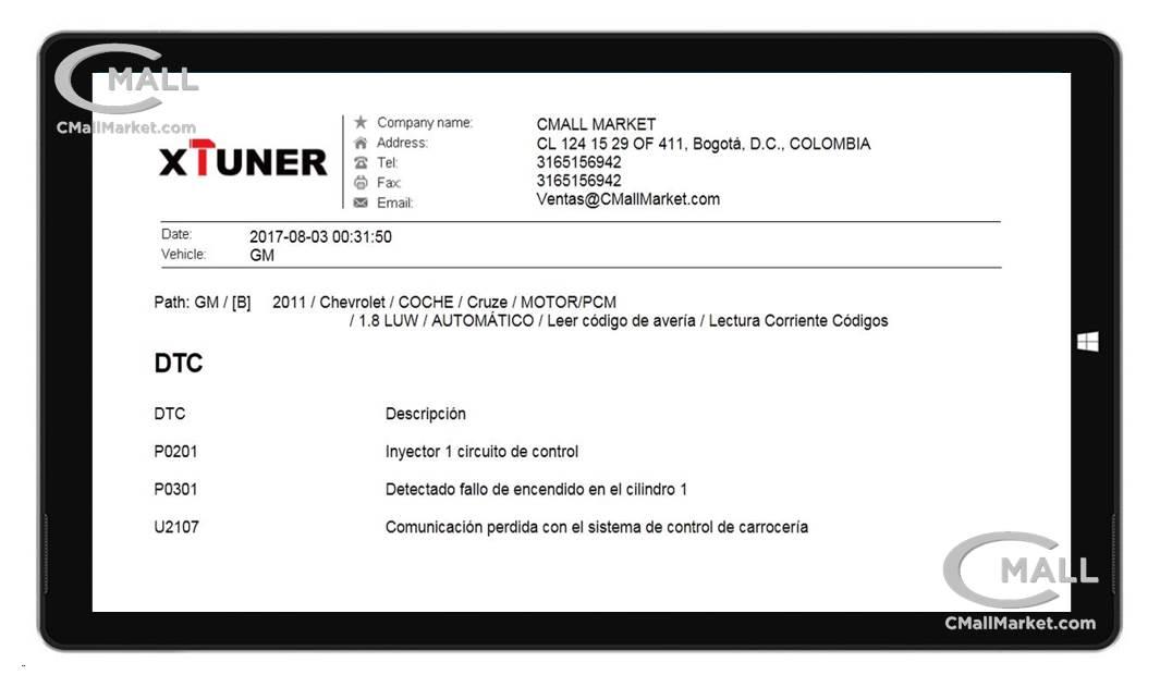 Scanner XTUNER E3 Multimarca y Multi-Sistemas CMALL MARKET