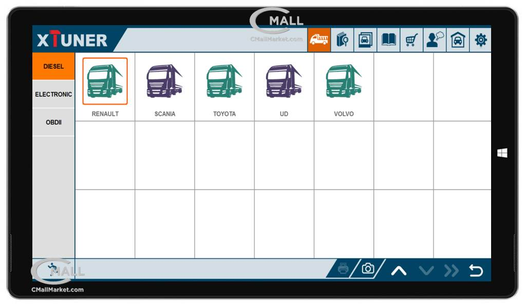 Scanner XTUNER T1 Multimarca y Multi-Sistemas Vehiculos Pesados CMALL MARKET
