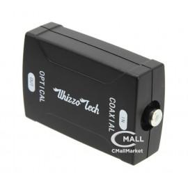 Adaptador / Convertidor Audio Coaxial (S/PDIF)  a Audio Optico (TOSlink)