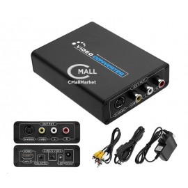Adaptador / Convertidor HDMI a RCA y S-Video (Digital a Analogo CVBS)