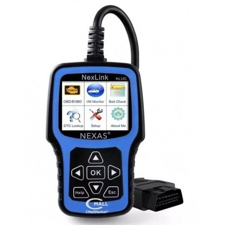 Scanner NEXAS NexLink NL101 OBD2 CAN con Verificador Voltaje Bateria