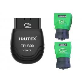 Scanner IDUTEX TPU300 con Cobertura OBD2, CAN, EOBD, HDOBD, J1939, J1708 de 12V y 24V