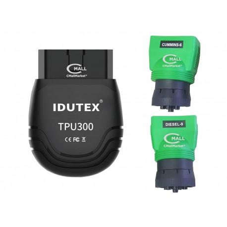 Scanner IDUTEX TPU300 con Cobertura OBD2, CAN, EOBD, J1939, J1708 de 12V y 24V
