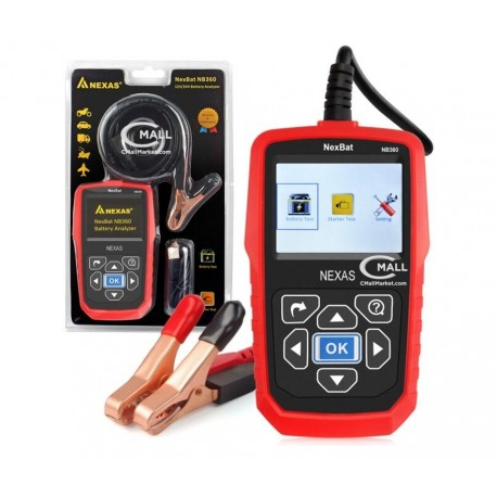 Analizador de Baterias NEXAS NexBat NB360 (12 y 24 voltios)