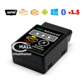 Scanner ELM327 Bluetooth OBD2 CAN para Android y Windows