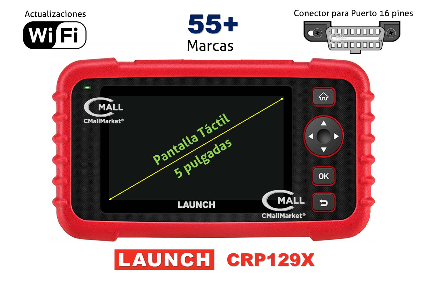 Scanner Multimarca LAUNCH CRP129X 4 Sistemas CMALL MARKET